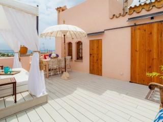 Испанская летняя терраса в средиземноморском стиле