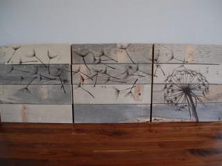 Искусство на досках: простоватый и оригинальный декор стен