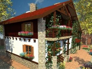 Фасад дома в стиле кантри