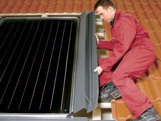 Как установить на крыше солнечный коллектор?