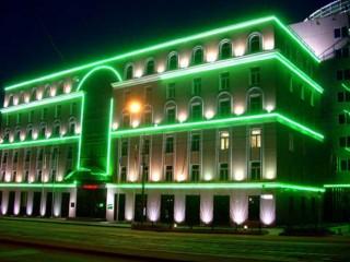 Особенности подсветки фасадов зданий