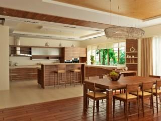 Интерьер и планировка кухни-гостиной в частном доме
