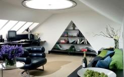 Гостиная на мансарде- место отдыха для всей семьи