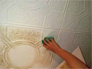 Окраска потолочной плитки или возвращаем былую свежесть