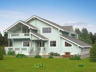 Дом из профильного бруса.