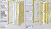 Межкомнатная дверь: из чего состоит и как производится