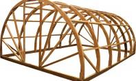 Теплица из деревянных конструкций